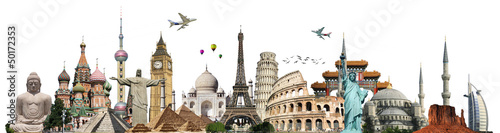 Cuadros en Lienzo Travel the world monuments concept
