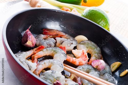 Fototapeta shrimp roast Indonesian obraz