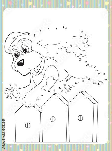 Foto op Aluminium Doe het zelf The page with exercises for kids
