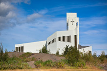 White Modern Iceland Church