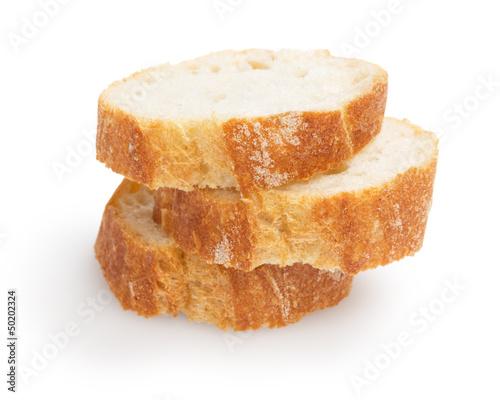 Fototapeta french baguette slices obraz