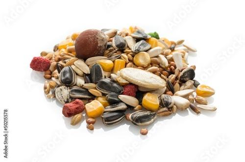 Photo  Mélange de graines pour perroquets.