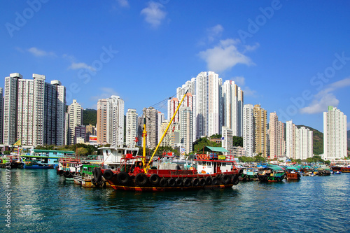 Fotografie, Tablou  Traditional junks in the Aberdeen Bay.  Hong Kong
