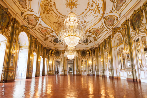 Fotografiet The Ballroom of Queluz National Palace, Portugal