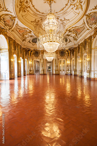The Ballroom of Queluz National Palace, Portugal Fototapet