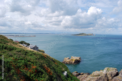 Howth, Ireland, panorama from the cliff Poster