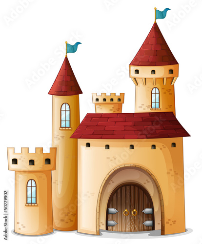 Poster Castle A beautiful palace