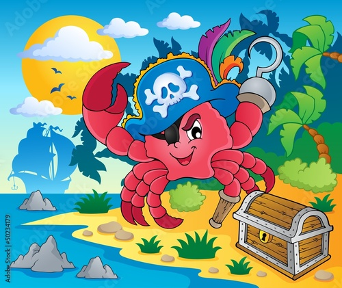 Photo Stands Pirates Pirate crab theme image 2