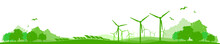 Landschaft Wind Solar Energie