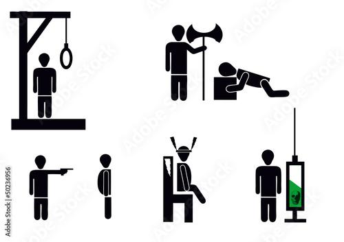death penalty Tablou Canvas