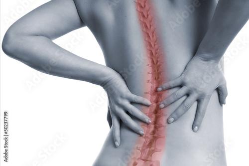 Fotomural  Frau mit Schmerzen in der Wirbelsäule