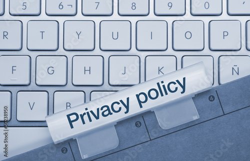 Fotografia, Obraz  Privacy policy keyboard and folder
