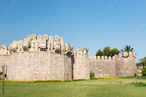Photo  Hyderabad, India landmark, the famous Golconda Fort