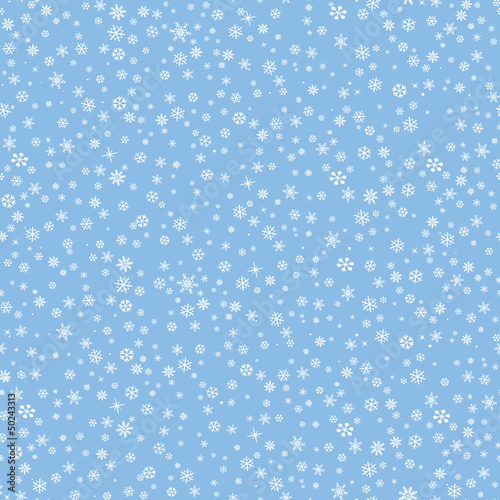 Stoffe zum Nähen Snowflakes seamless pattern, snow background.