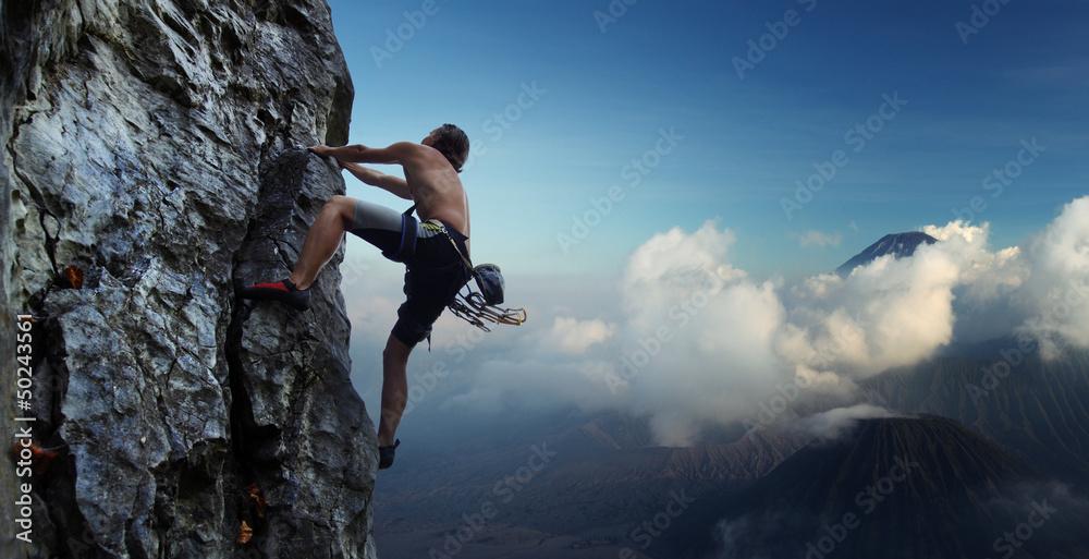 Fototapeta Climber