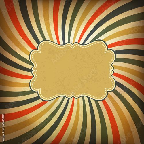 Poster  Grunge vintage background. Vector, EPS10