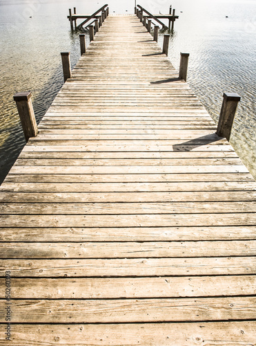 Tuinposter Pier old wooden jetty