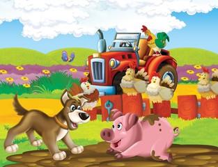 Život na farmi - ilustracija za djecu