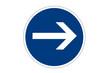 Verkehrszeichen: Vorgeschriebene Fahrtrichtung - hier rechts