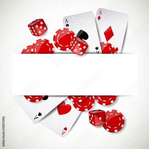 Vektor-Illustration eines Hintergrundes mit Kasino-Elementen Fototapete