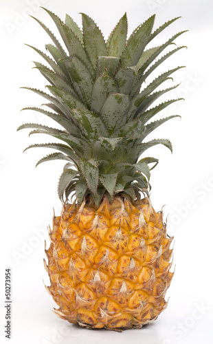 Fototapety, obrazy: Pineapple isolated on the white background