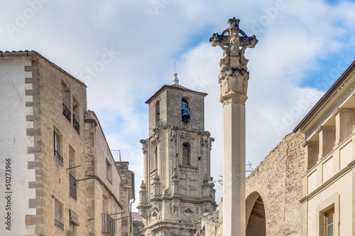 Photo Assumption church bell tower at Calaceite, Spain