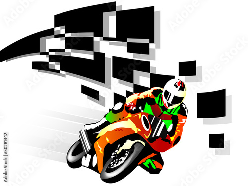 Poster Motorcycle Motorcycle racer