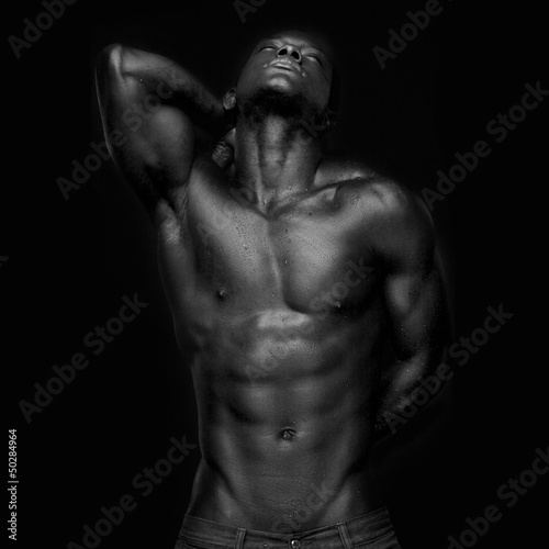 African American with Muscles