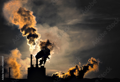Photo  Polluting factory