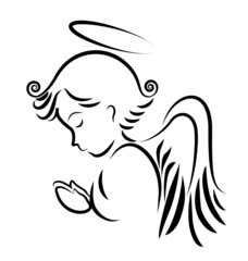 NaklejkaAngel praying logo vector