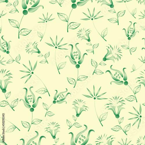 Fototapeta seamless flowers vector pattern obraz na płótnie