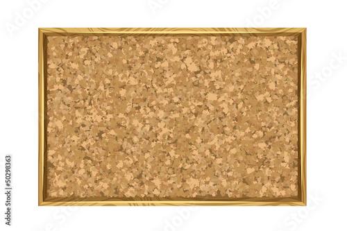 Fotografie, Obraz  Corkboard with Wooden Frame
