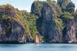 Tropic sea island rocks