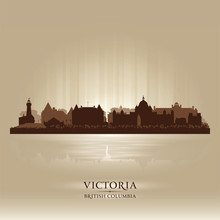 Victoria British Columbia Skyline City Silhouette