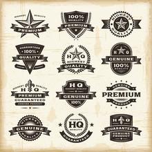 Vintage Premium Quality Labels Set