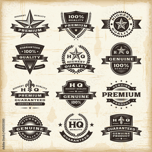 Fotografía  Vintage premium quality labels set