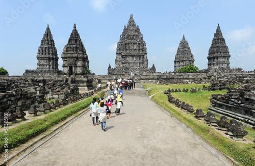 Foto op Plexiglas Indonesië sito archeologico hindu di Prambanan sull'isola di Java