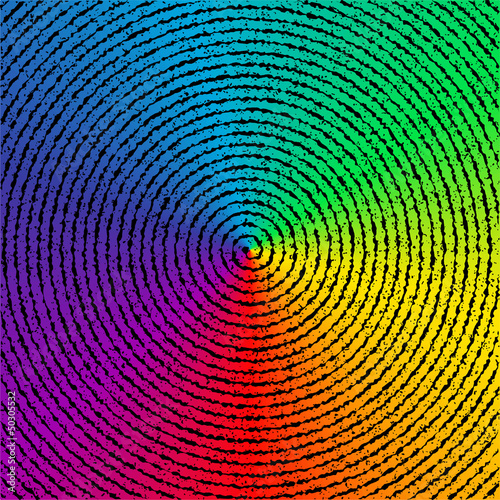 Psychedelia vector background. - 50305532