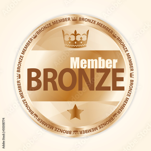 Fotografie, Obraz  Bronze member badge with royal crown and one star