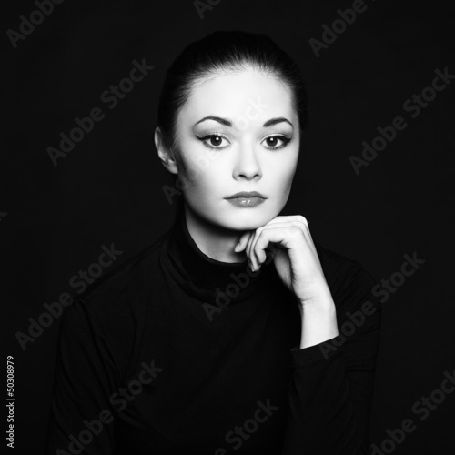 Fotobehang womenART Mysterious portrait of a beautiful young woman