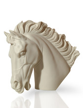 Marble Sculpture Of A Horse's ...