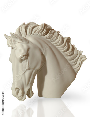 marble sculpture of a horse's head