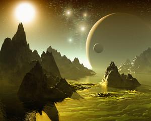 Fototapeta Fantasy Space landscape