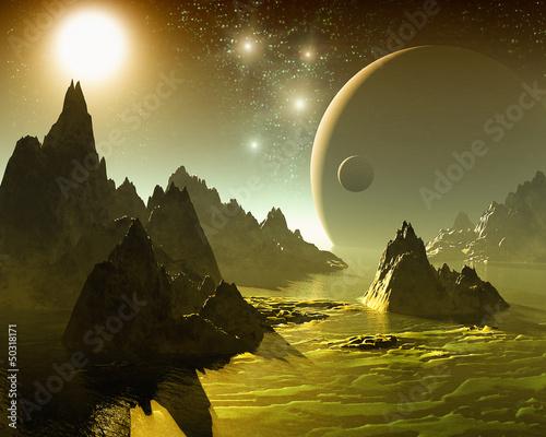 Space landscape - 50318171