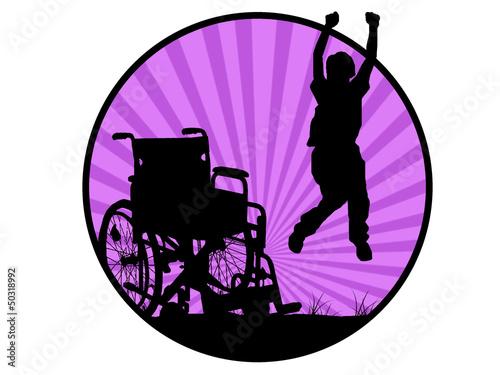 Fotografia, Obraz  jumping invalid