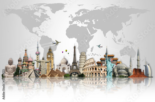 Fotografía Travel the world monuments concept