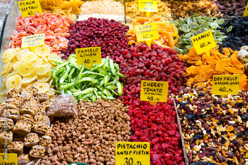 Fototapety, obrazy: Dried Fruits from Spice Bazaar, Istanbul