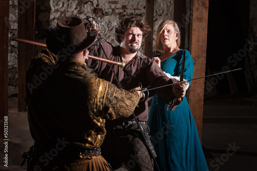 Photo Stands Music Band Medieval Sword Fight