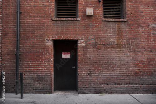 Photo Alley Entrance backside of Brick Building