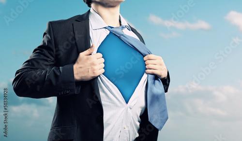 Young superhero businessman Wallpaper Mural